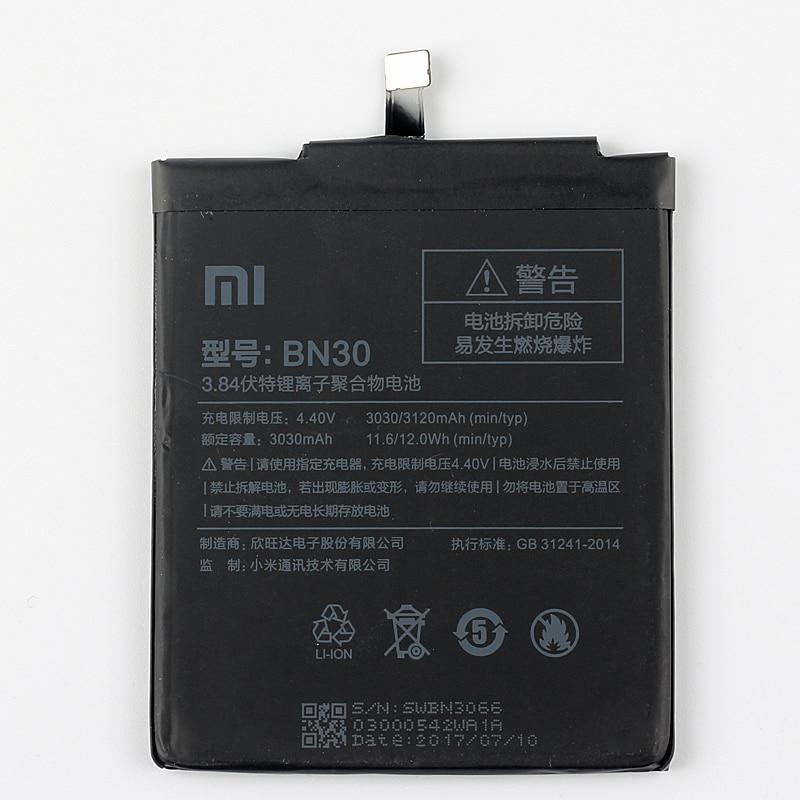 Original Xiaomi BN30 Redmi 4A Phone battery For Xiaomi Mi Redmi 4A BN30 3120mAh in Mobile Phone Batteries from Cellphones Telecommunications