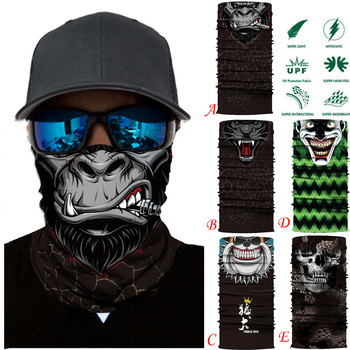 Face Mask Mix of Devil and Angel Outdoor Masks Riding Cycling Neck Tube Warmer Protector Ski Scarf Balaclava Halloween Windproof