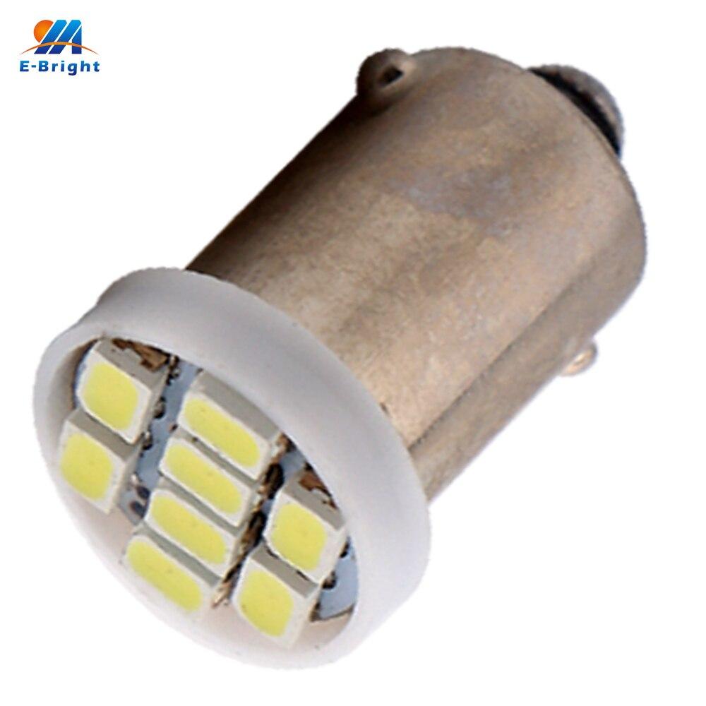 300pcs BA9S 1206 8 SMD 1206 Super Bright BA9S T4W 1895 6253 8 LED light Bulbs