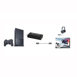 HDV-G300 ps2 to hdmi 480i/480 وعاء/576i الصوت والفيديو تحويل محول مع 3.5 ملليمتر إخراج الصوت يدعم جميع ps2 عرض وسائط