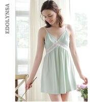 Satin Sleepwear Sexy Nightgown Summer Nighty Women Sleep Wear Night Gown Silk Slip Dress Chemise Ladies Backless Nightdress T245