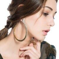 Bestnote Europäischen Stil Übertreibung Extra Große Schlange Hoop Ohrring Für Frauen