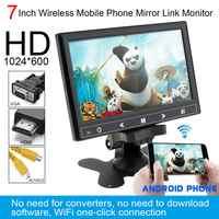Monitor multifunción para reposacabezas de coche, 7 pulgadas, HD, IPS, 12V, TFT, LCD, Color, compatible con HDMI / VGA/AV/enlace inalámbrico para teléfono móvil