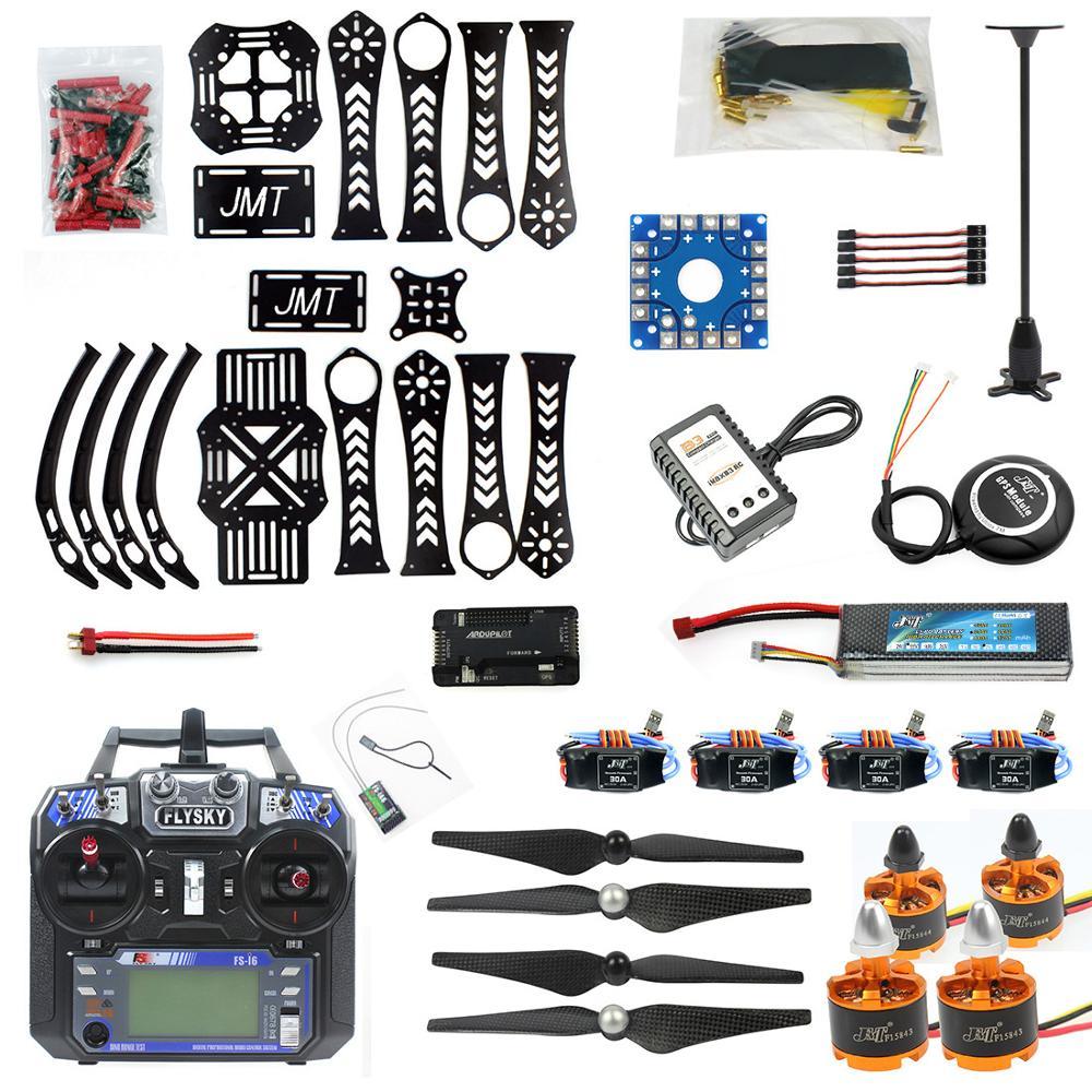 Oyuncaklar ve Hobi Ürünleri'ten Parçalar ve Aksesuarlar'de F14892 B DIY RC Drone quadcopter X4M360L çerçeve kiti ile GPS APM 2.8 RX TX pil ve şarj adaptörü RTF 4 eksenli uçak oyuncak'da  Grup 1