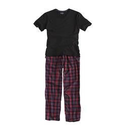 Мужская пижама из 100% хлопка с короткими рукавами, с круглым вырезом, черная футболка, клетчатые брюки, мужская пижама, осенняя одежда для
