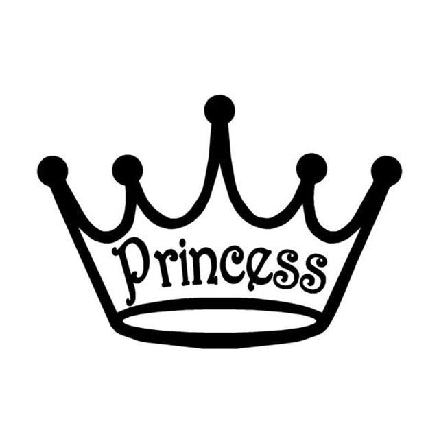 Vinilo Logo De Corona Princesa Wwwimagenesmycom