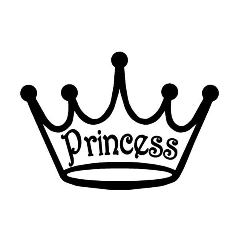 15cm 10 5cm Car Styling Crown Vinyl Princess Stylish Cute
