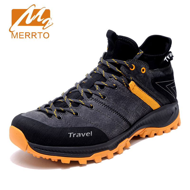 2017 Merrto Mens Hiking Shoes Breathable Outdoor Sports Shoes Climbing Shoes Gray Blue For Men  Men Hiking Shoes 2018 merrto womens climbing shoes breathable hiking shoes warmth non slip outdoor sports shoes for women free shipping mt18696
