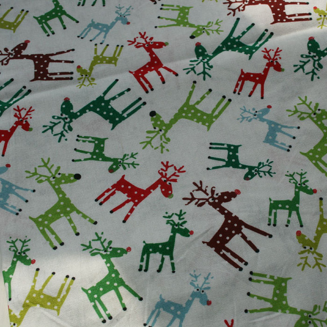 vintage christmas fabric quilt designer baby cotton fabric for patchwork bedding fabric sewing material 100x110cm tissue - Vintage Christmas Fabric