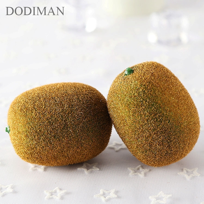 Simulation Fruit Kiwifruit Foam Model Photography Props Fruit Store Display Home Decoration Furnishings Artificial Kiwi