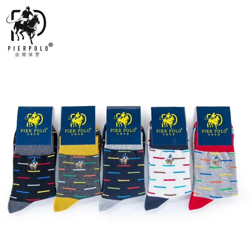 5 пар/лот новая мода harajuku бренд мужские носки 100% хлопчатобумажные носки длинные happy socks мужская бамбуковое волокно вышивка красочные носки