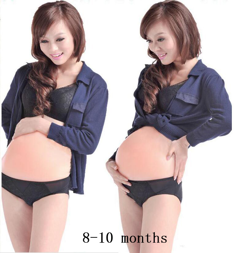 4-10 month /comfortable realistic silicone artificial belly,fake belly for false pregnancy wholesale, crossdresser 1500-4500g free shipping 1850g comfortable realistic silicone fake belly false jelly belly for cosplay and false pregnancy 6 7 month