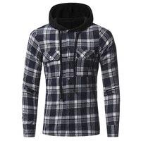 Men Flannel Plaid Shirt 100 Cotton 2018 Spring Autumn Casual Long Sleeve Plaid Shirt Soft Comfort