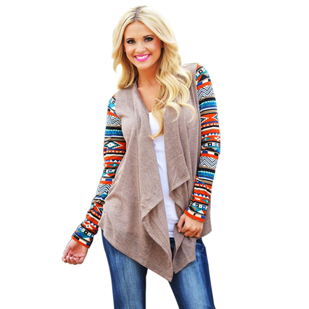 Women Long Cardigan 2017 Long Sleeve Knitted Poncho Sweater Coat ...