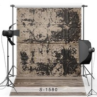 Vintage Old Brown Black Frame Wall Photo Studio Background Vinyl Cloth High Quality Computer Print Party