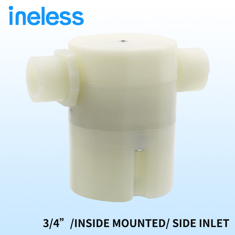 Free shipping 3/4 Side Built-in Water Inside Mounted Automatic Float Valve Water Level Control Valve For Solar Water Tank Pool
