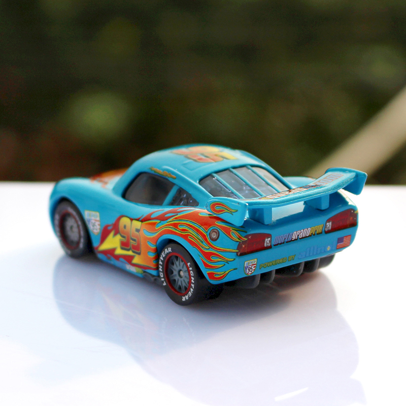 Pixar Cars 2 Blue Limited Edition NO.95 Lightning McQueen 1:55 Scale ...