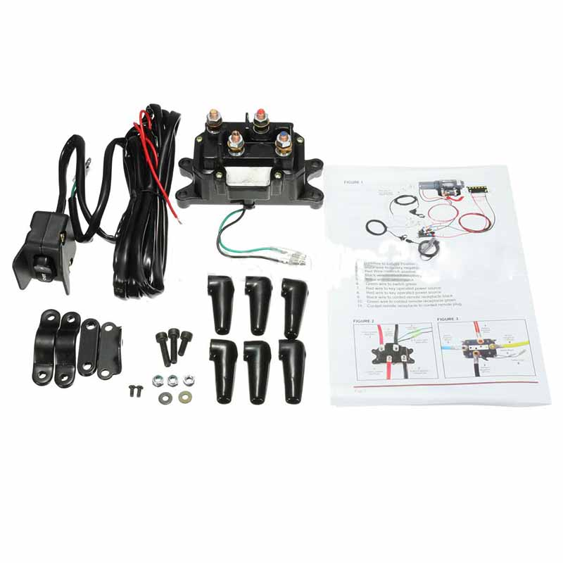 цена Practical 1 Set 12V ATV UTV Solenoid Winch Rocker Thumb Switch Wiring Combo with Relay Contactor Accessories