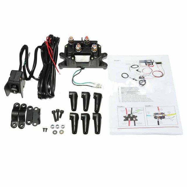 practical 1 set 12v atv utv solenoid winch rocker thumb switch wiring combo  with relay contactor accessories