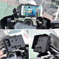 2018 New For BMW R1200GS LC 2013 On Mobile Phone Navigation Bracket For GARMIN USB Phone Charging R1200 GS ADVENTURE ADV 12MM
