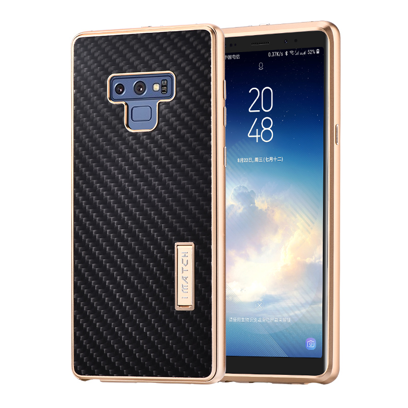 For Samsung Galaxy Note 9 Case Luxury Metal Aluminum Bumper Cover Carbon Fiber Protect Cases For Samsung Galaxy Note 8 CaseFor Samsung Galaxy Note 9 Case Luxury Metal Aluminum Bumper Cover Carbon Fiber Protect Cases For Samsung Galaxy Note 8 Case