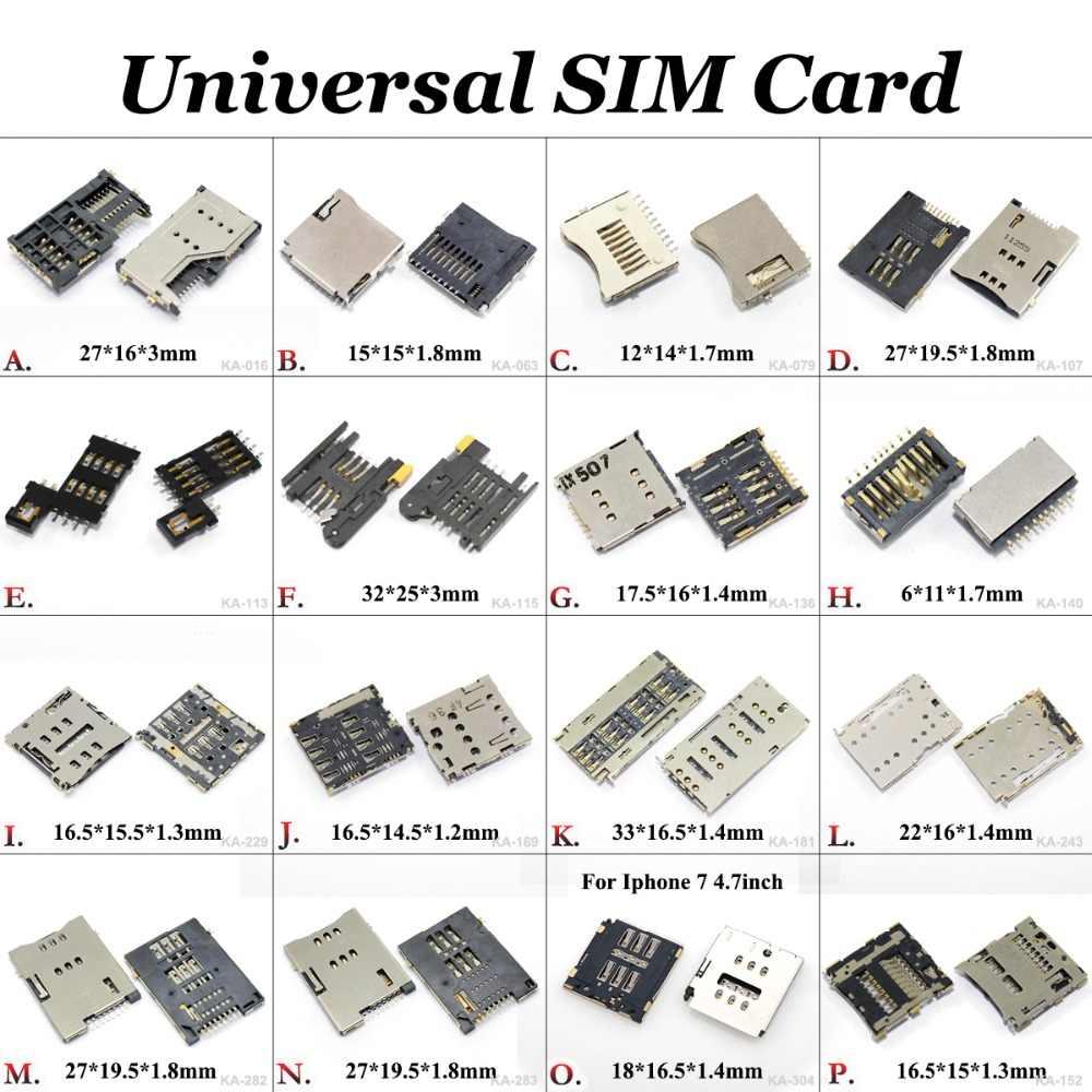 Юйси сим-карты Разъем ридер держатель для Nokia 5250 для huawei honor P6 для iphone 7 для Coolpad 7295C 8591 8705 K1 8716