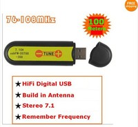 USB FM broadcast transmitter wireless sound card stereo 7.1 channel 100meters