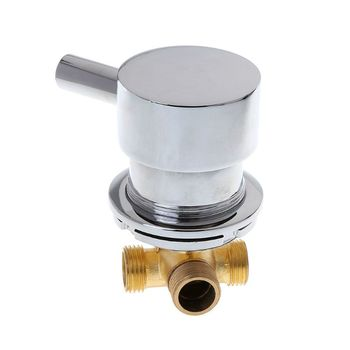 G1/2 Hot & Cold Water Mixing Valve Thermostatic Mixer Two In & One Out Faucet For Shower Room hot cold thermostatic mixing valve 22mm copper bathroom faucet shower control mixer water heater