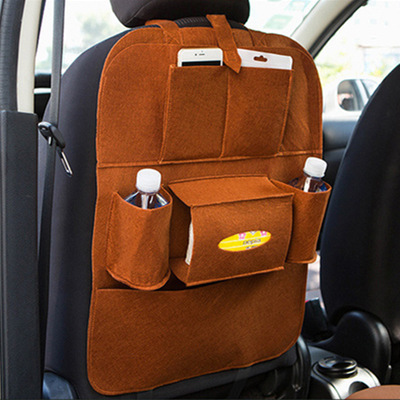 Новинка, Универсальный 1 шт. автомобильный защитный чехол на заднюю часть сиденья автомобиля, детский коврик, сумка для хранения, аксессуары для автомобиля - Цвет: brown