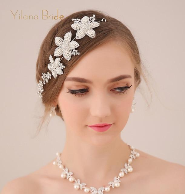 Luxury bride wedding headbands crown hair accessories crown wedding head jewelry head chain jewelry snowflake hair accessories