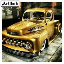 Новое поступление 5D DIY Алмазная картина золото классический автомобиль крестиком квадратные Стразы 3d Алмазная мозаика для украшения дома