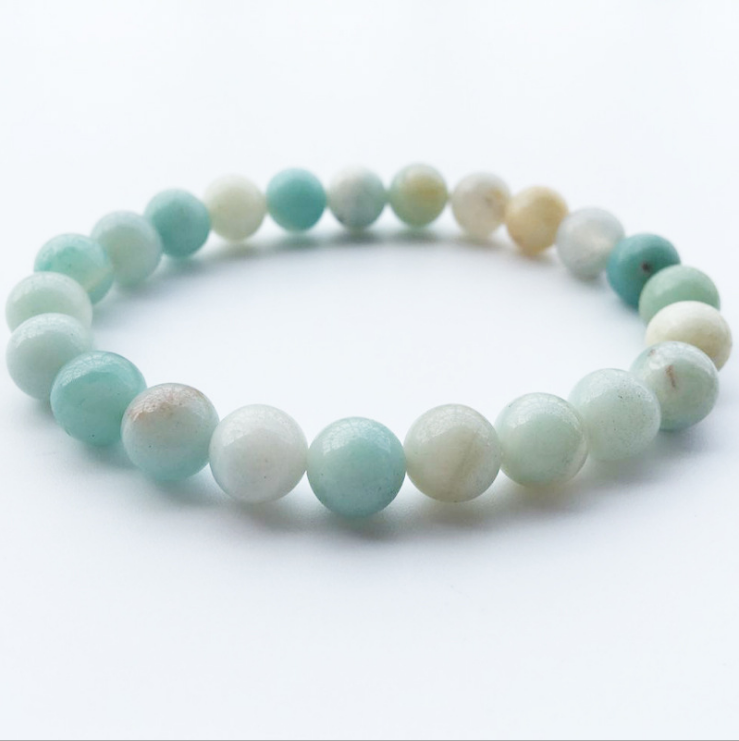 Hot Sale Jewelry 8mm Natural Semi Precious Stone Beads Calaite Lava Bracelet Antique Silver Cross Bracelets for Women Man Gift