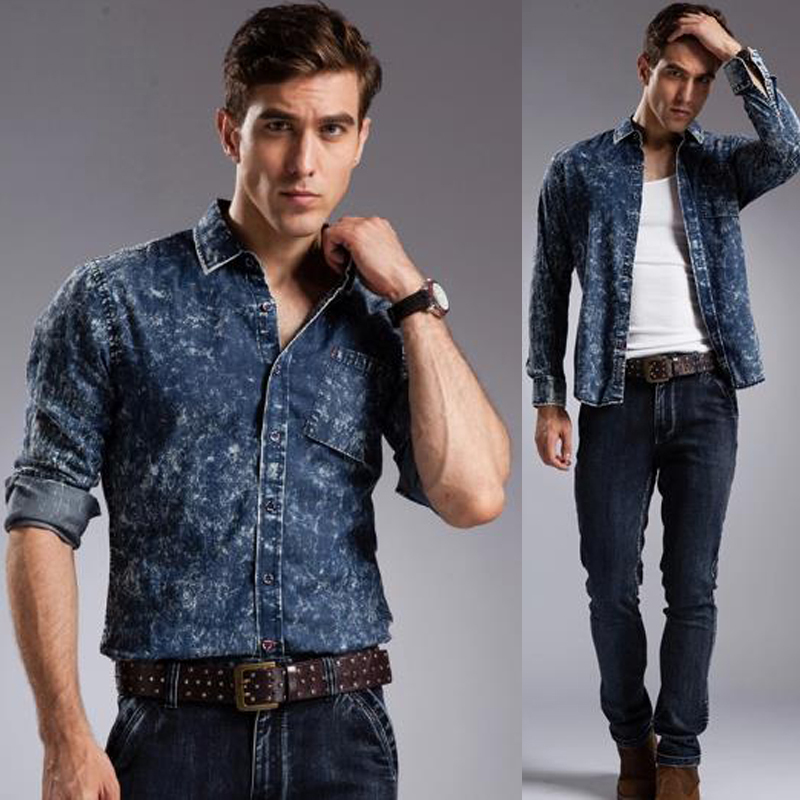 Popular Jean Shirt for Men-Buy Cheap Jean Shirt for Men lots from ...