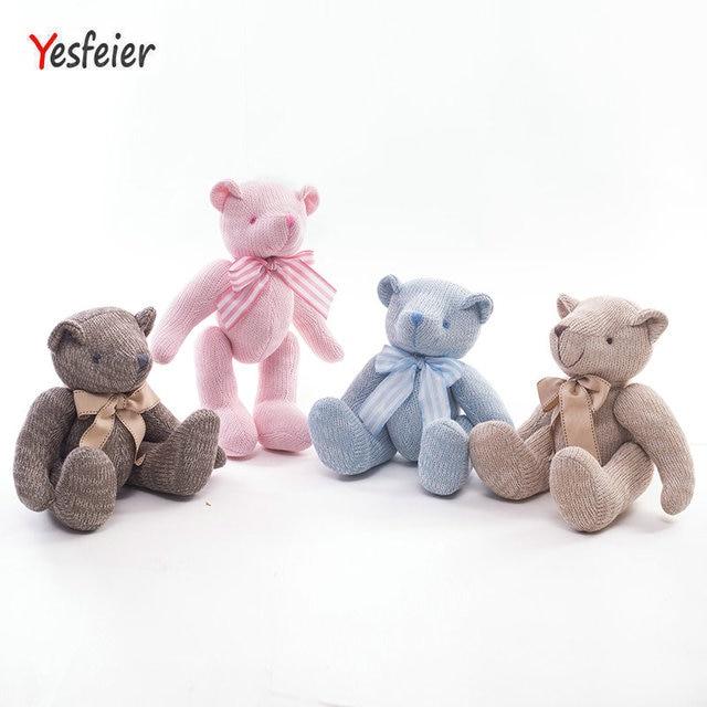 Yesfeier kawaii animal tejido de lana juguete felpa del oso del ...