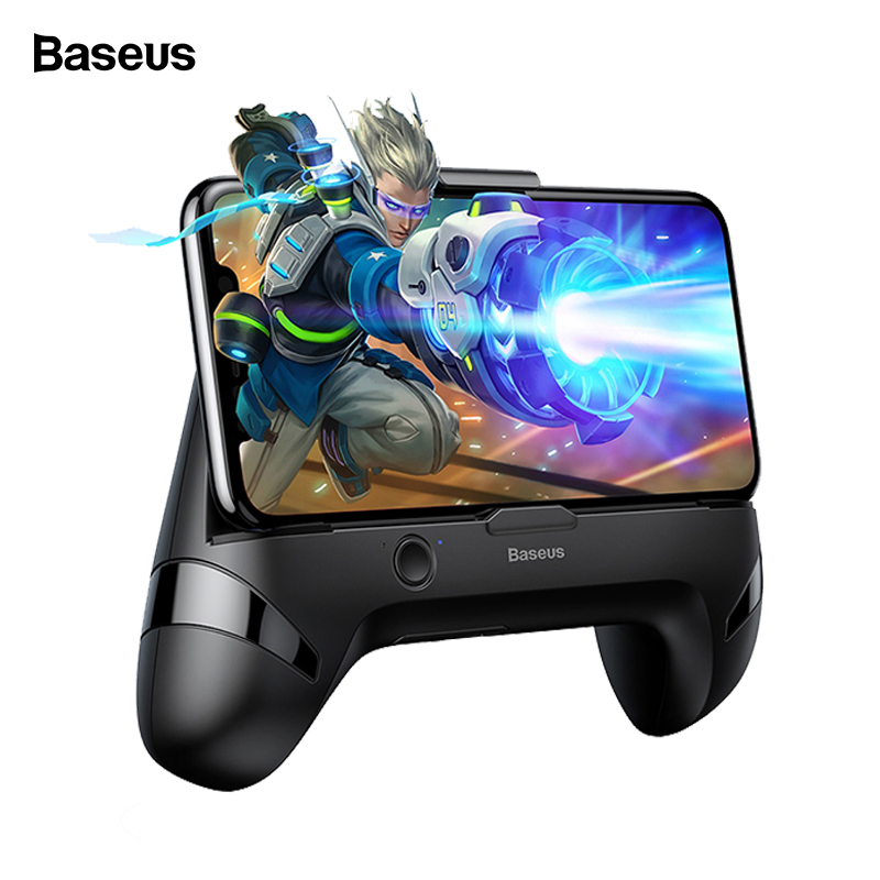 Baseus Gamepad Game Handle Holder For iPhone Samsung Xiaomi Mobile Phone Holder Cooling Phone Game Controller Support Charge image