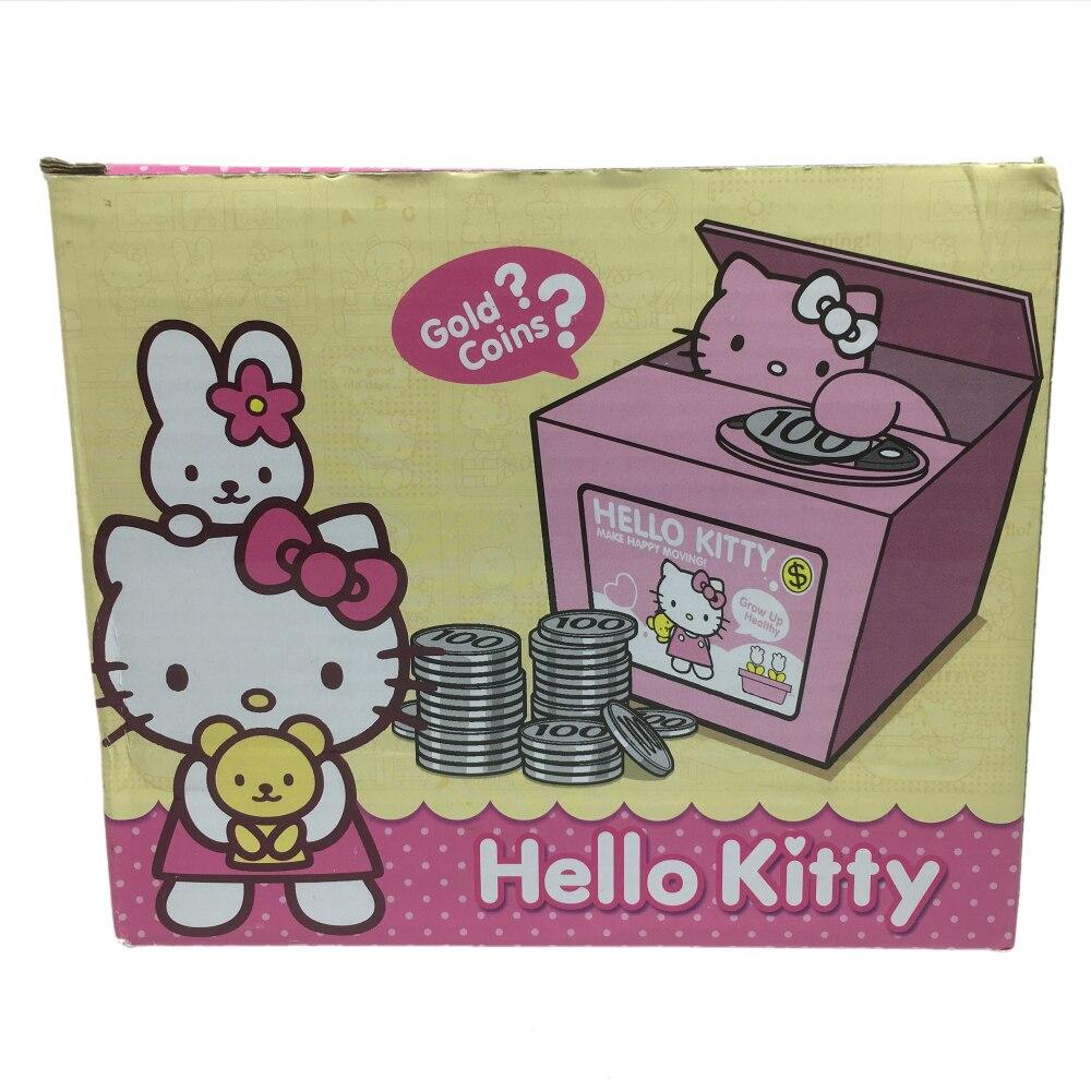 Hello Kitty Piggy Bank Pink Cat Steal Coin Money Box Mischeaf Mao Celengan Atm 1 7 9 11