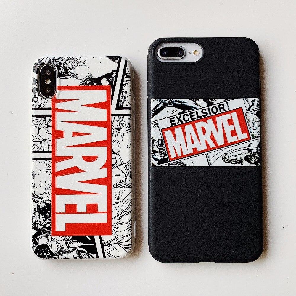 online store 7b597 65085 US $2.36 18% OFF|For iphone 7 6 X Case Deadpool Iron Man Marvel Avengers  KingKong Soft Phone Case for iPhone 7 X 6 6S 8 Plus Marvel phone coque-in  ...