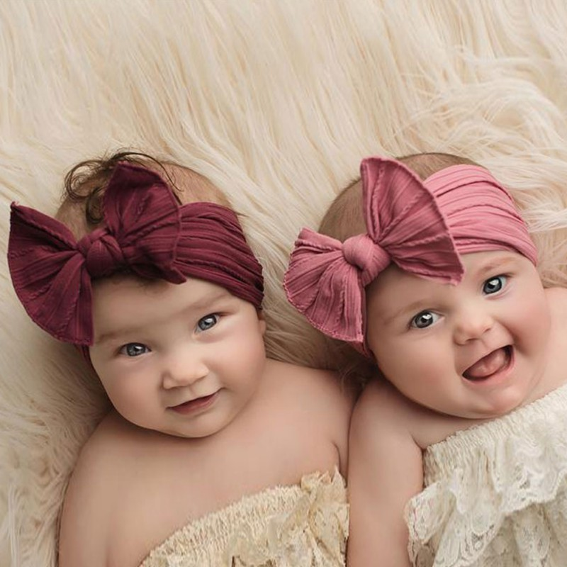 New0-3T solide bébé mignon filles Super mignon style nœud papillon conception bandeau serre-tête vêtements photographie fête cadeau
