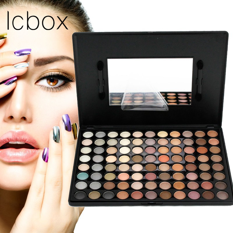 LCBOX Fashion Eye Makeup Palette Natural Make Up Light 88 Colors Eye Shadow Shimmer Matte Eyeshadow Cosmetics Set With Brush 35 color plum eyeshadow palette professional matte shimmer eye shadow cosmetics make up for eyes