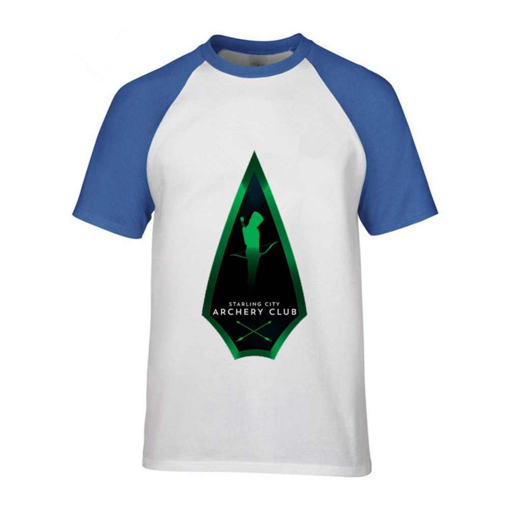 55df16f8 ... DC Green Arrow White Black Men cotton T-shirt logo Printed T shirt Punk  street ...