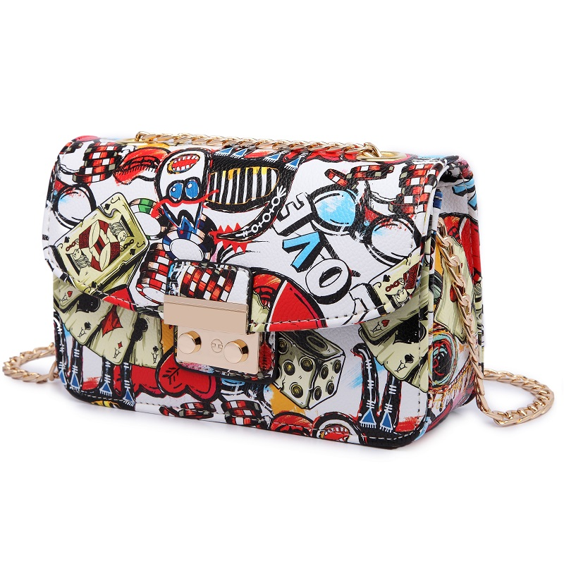 Image 5 - 2019 New Women Bags Summer Graffiti Ladies designer handbags high quality chain mini bag women messenger bags for women Clutchmessenger bags for womenmini bag womendesigner women bag -