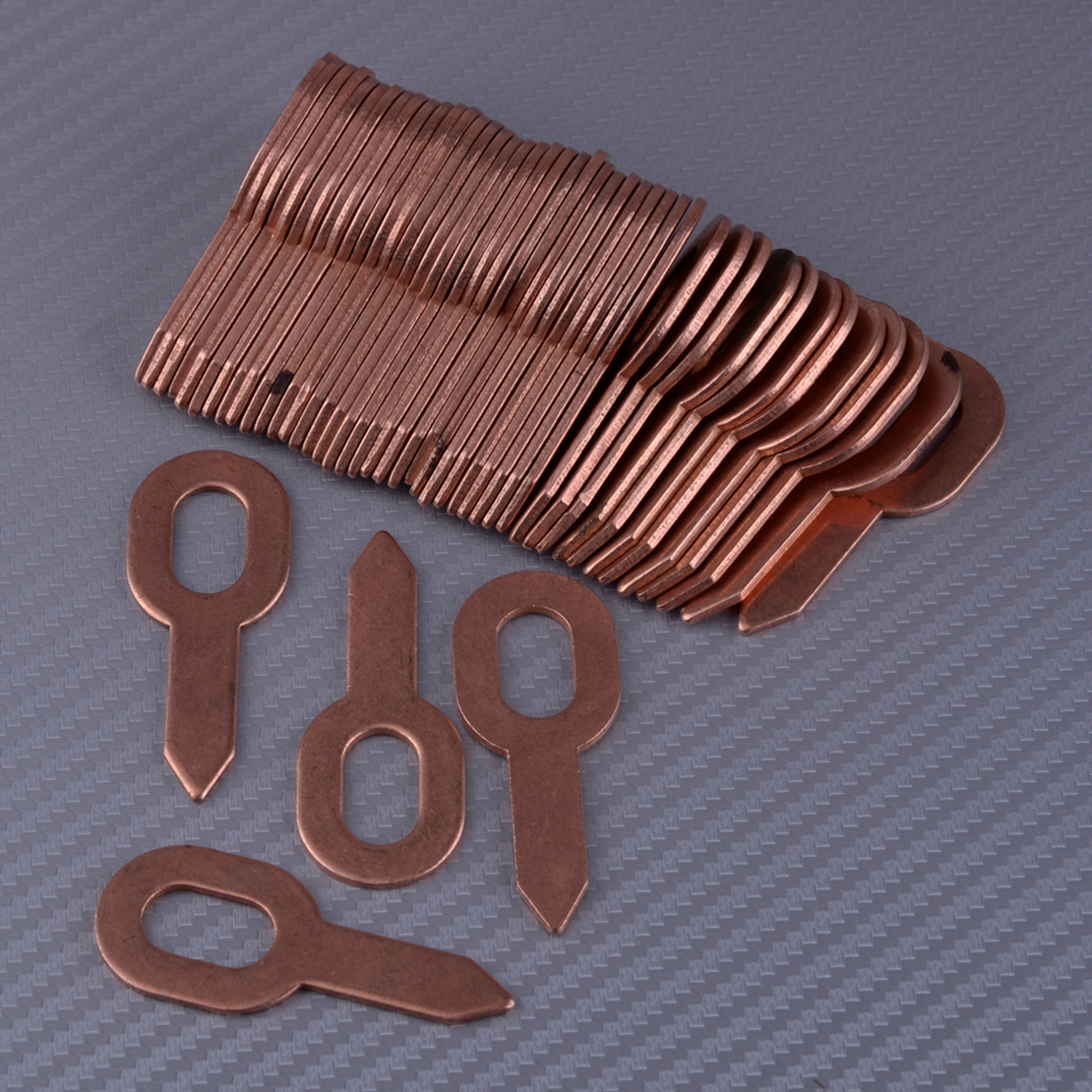 50pcs Copper Plated Dent Puller Rings For Spot Welding Soldering Car Body Panel Washer 55.5mm Removal Repair Tool