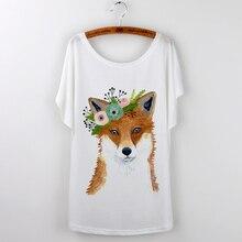 Harajuku Fox T-Shirt  for Women