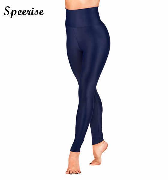 Speerise женские Высокая талия Лайкровые брюки спандекс танец Капри Эластичные леггинсы брюки для фитнеса