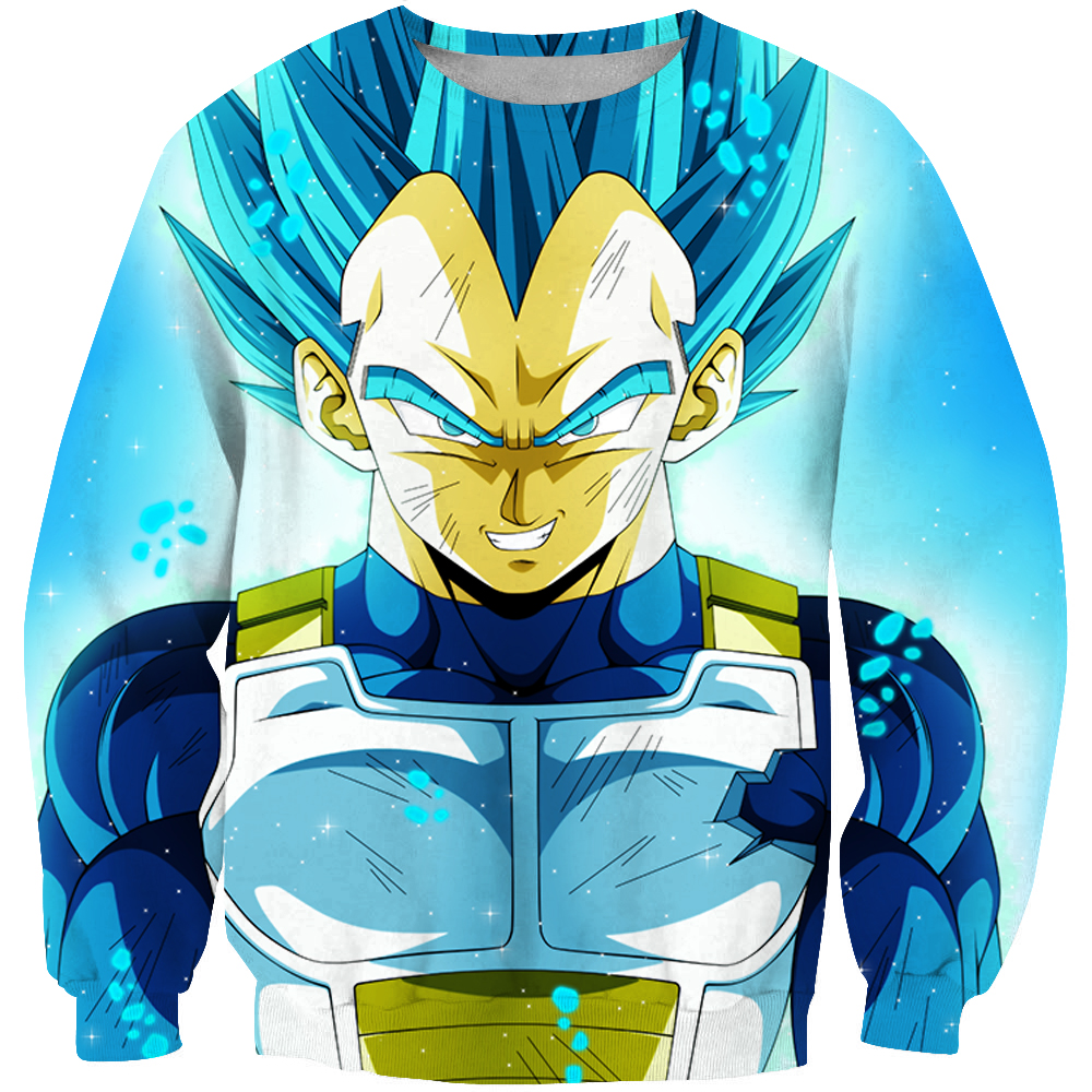 Dragon Ball Z Sweatshirts Men Women Long sleeve shirt 3d Pullover Goku Mens Clothing Blue Hair Funny Spring Tops Hoody Plus 6XL