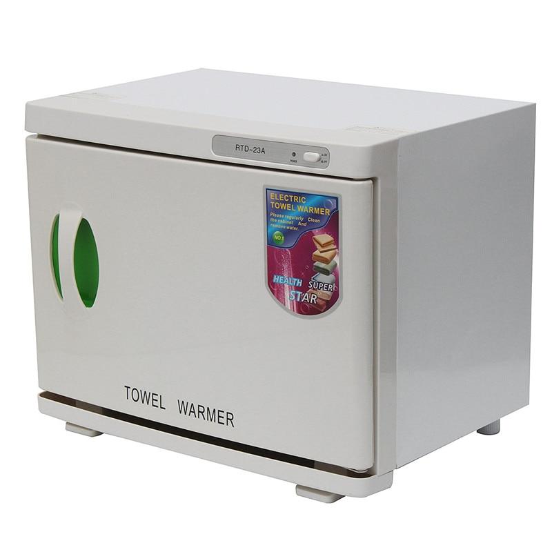 UV Sterilizer 23L 100 240V/AC Cabinet Hot Facial Towel Warmer Disinfection Beauty Salon Spa Heating Sterilizer Storage Towel