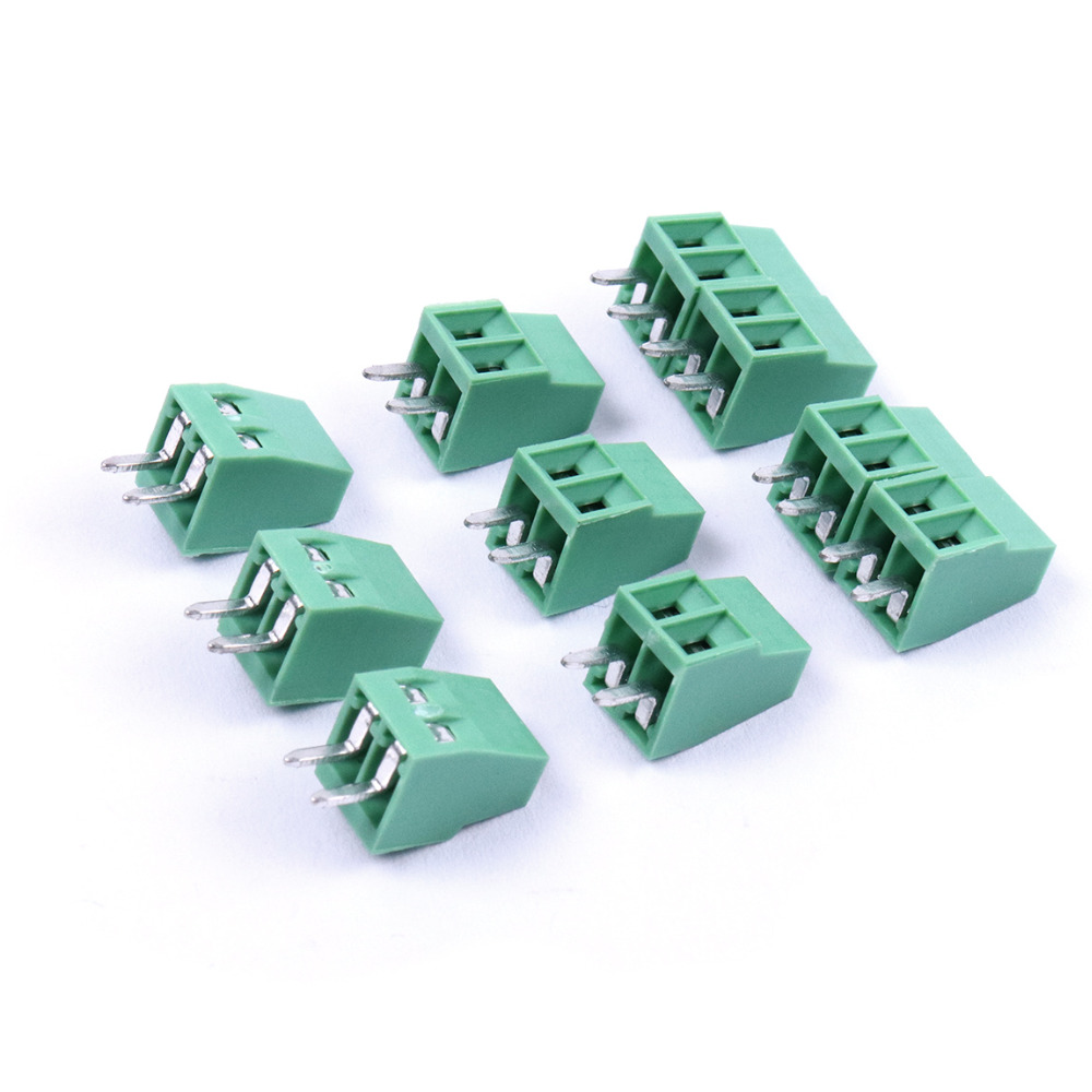 Useful 20/30/100/200Pcs Pitch 2.54mm Splice Straight Pin PCB 2Pin 3Pin Universal Screw Terminal Block Connector For PCB Wiring футболка top secret top secret to795emscc06