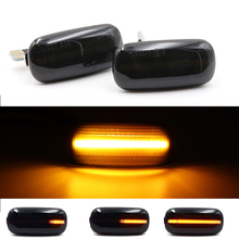 2X Led Dynamic Flowing Side Marker Light For Audi A3 S3 8P A4 S4 RS4 B6 B7 B8 A6 S6 RS6 C5 C7 Car LED Amber Signal Light