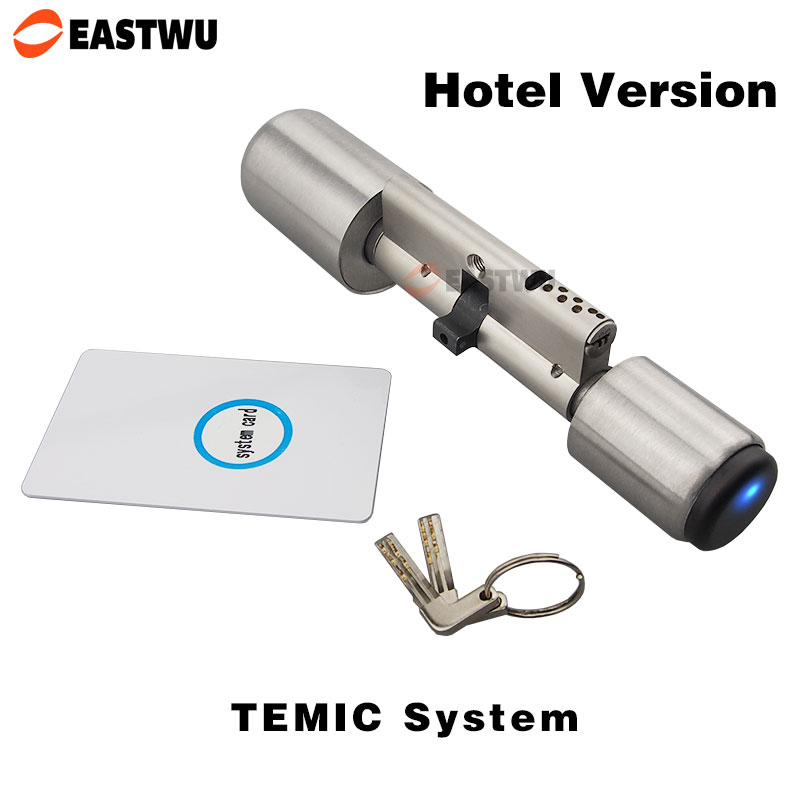 European Electronic Cylinder for Mortise Door Lock Smart Card  Core Cylinder RF Card TEMIC System with Hotel Management Software circular ring lock without the lock core cylinder lock m1 61 nylon lock