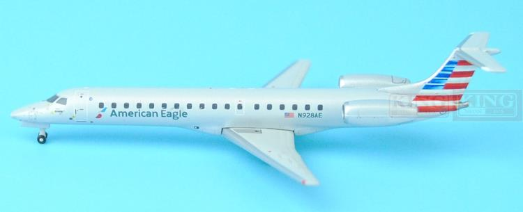 GJAAL1295 GeminiJets American Airlines N928AE 1:400 ERJ-145 commercial jetliners plane model hobby gjcca1366 b777 300er china international aviation b 2086 1 400 geminijets commercial jetliners plane model hobby